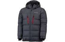 Columbia Men's Alaskan II Down Hooded Jacket graphite/bright red